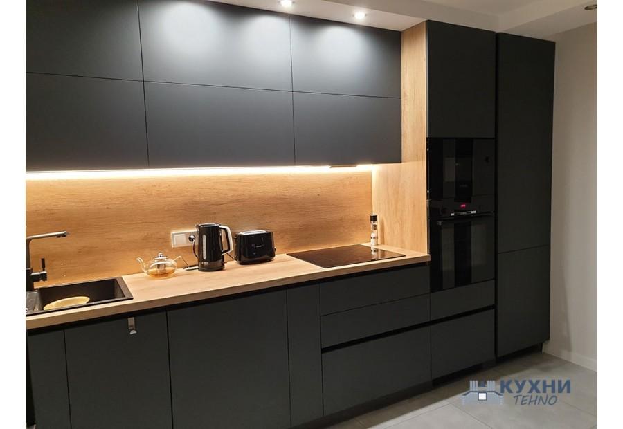Кухня из пластика FENIX NTM №021